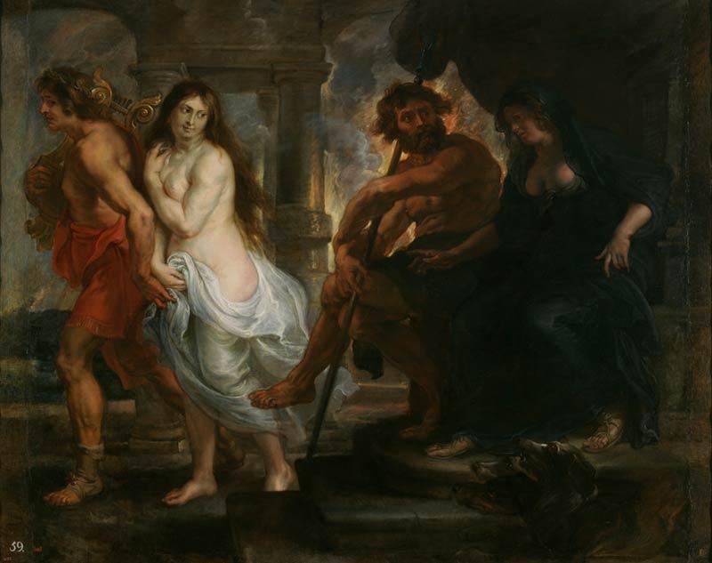 <p>6- Pedro-Pablo Rubens, <em>Orphée et Eurydice</em>, 1636-1638<br/><span>© Museo nacional del Prado</span></p>