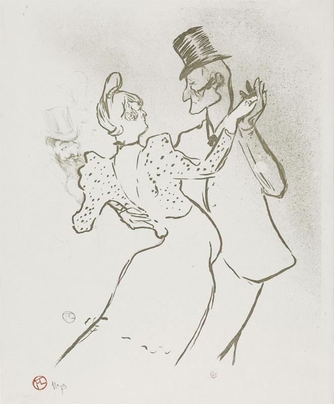 Titre de musique pour Bosc :... La Goulue valse pour piano par A. Bosc, Estampe de Toulouse Lautrec Henri (1864-1901) © INHA