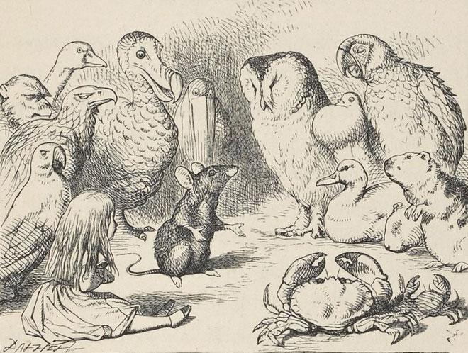 John Tenniel, Aventures d'Alice au pays des merveilles de Lewis Carroll, 1869 © Gallica BnF