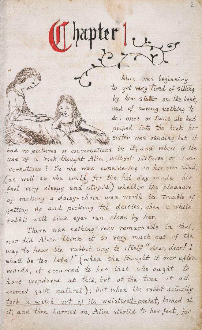 Lewis Carroll,Alice au pays des merveilles, 1862 © British Library