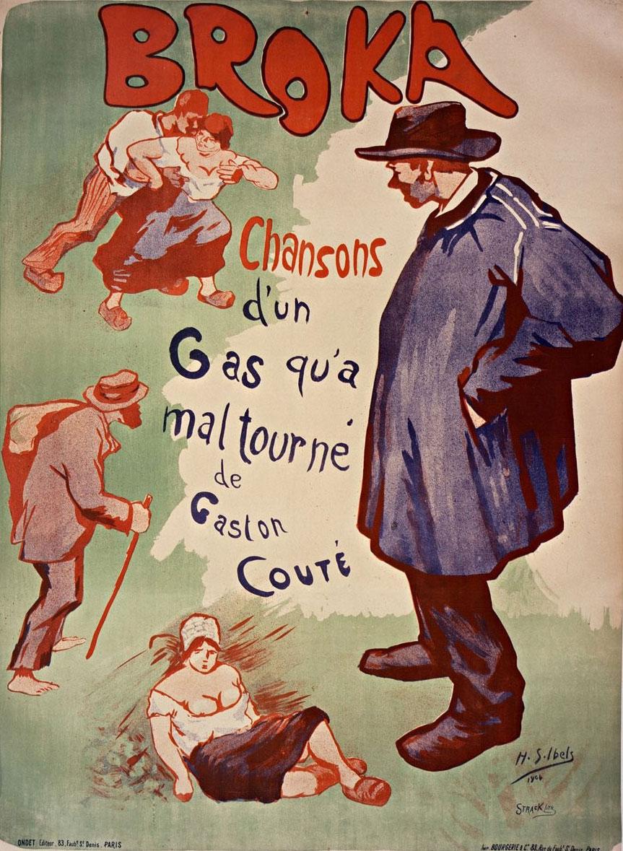 Chansons d'un gas qu'a mal tourné de Gaston Couté (affiche) © Gallica BnF