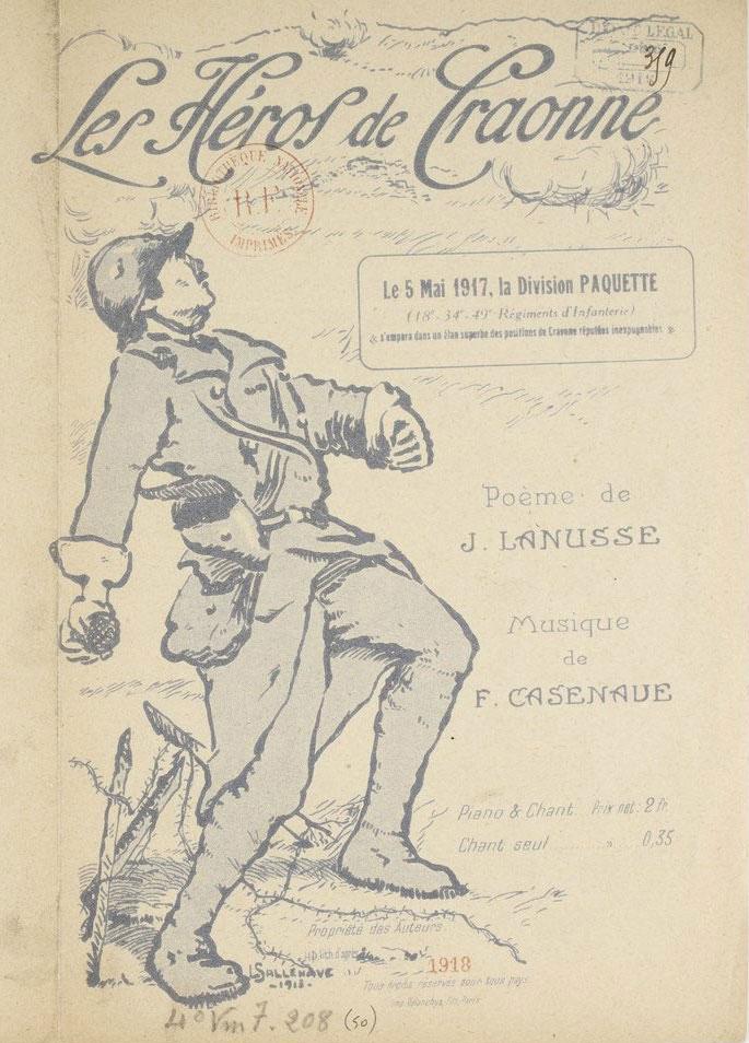 Les héros de Craonne, poème de J. Lanusse, musique de F. Casenave © Gallica BnF
