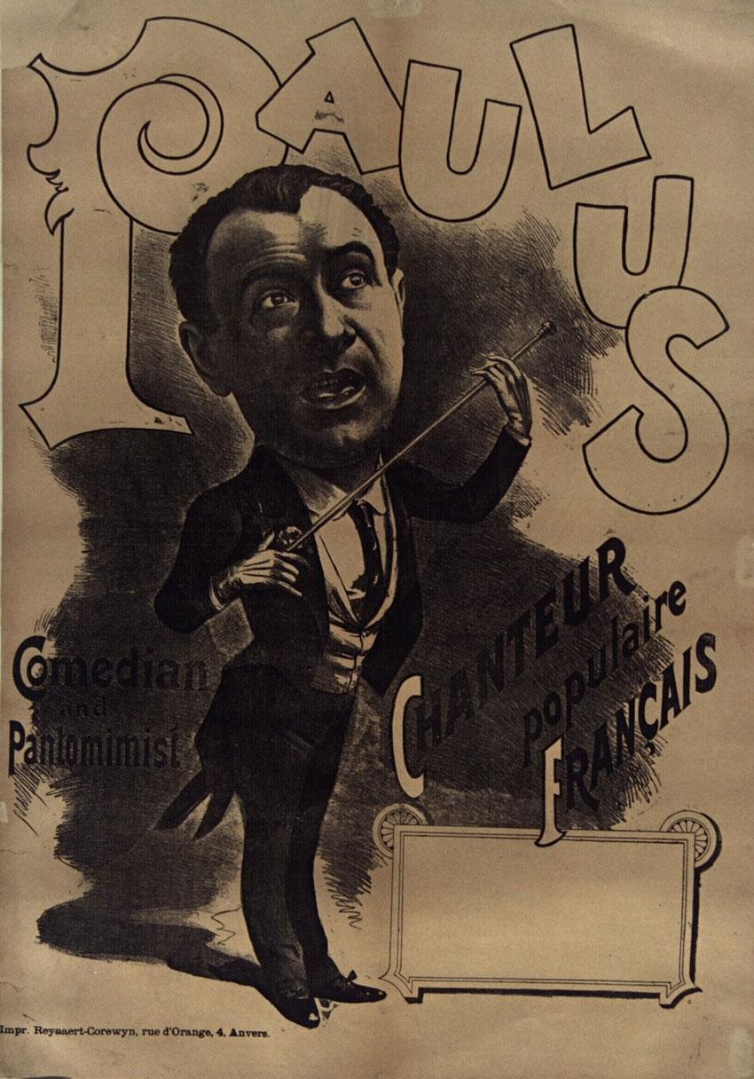 Paulus, Chanteur populaire francais(affiche) © Gallica BnF