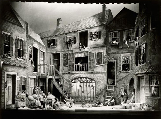 Décor de Sergei Soudeikine pour Porgy and Bess © NY Public Library, digital collections