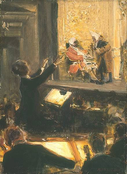Schuch dirigeant Le Chevalier à la rose à Berlin en 1912, par Robert Sterl © Staatliche Museen zu Berlin