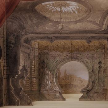 Les Milles et une nuits, maquette de décor en volume, Amable Dauphin Petit, 1881 © Gallica - BnF