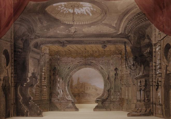 Les Mille et Une Nuits, maquette de décor en volume, Amable Dauphin Petit, 1881 © Gallica - BnF