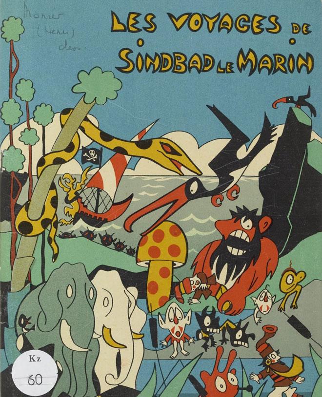 Les Voyages de Sinbad le Marin, illustration de Henri Monier, édition Pélican Blanc, Paris 1933 © Gallica - BnF