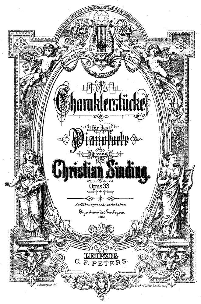Partition Six pièces de caractère op 33 de Sinding Christian © IMSLP
