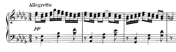 Partition Six pièces de caractère op 33 de Sinding Christian, première partie