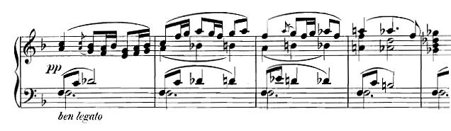 Partition Six pièces de caractère op 33 de Sinding Christian, deuxième partie