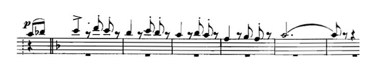 Partition de Danse des Ghazies, Air de la flûte