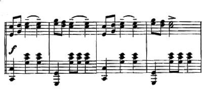 Partition de Danse des Ghazies, Thème 1