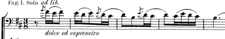 Exemple : Thème du prince au basson