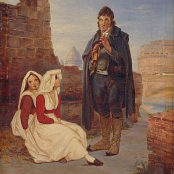 Pifferaro et jeunes filles à Rome © Staatliche Museen zu Berlin, Nationalgalerie
