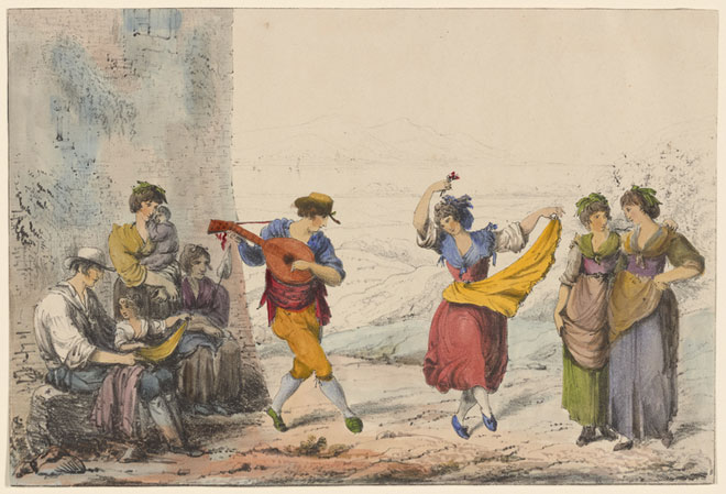 Danseurs de tarentelle © NY Public Library, digital collections