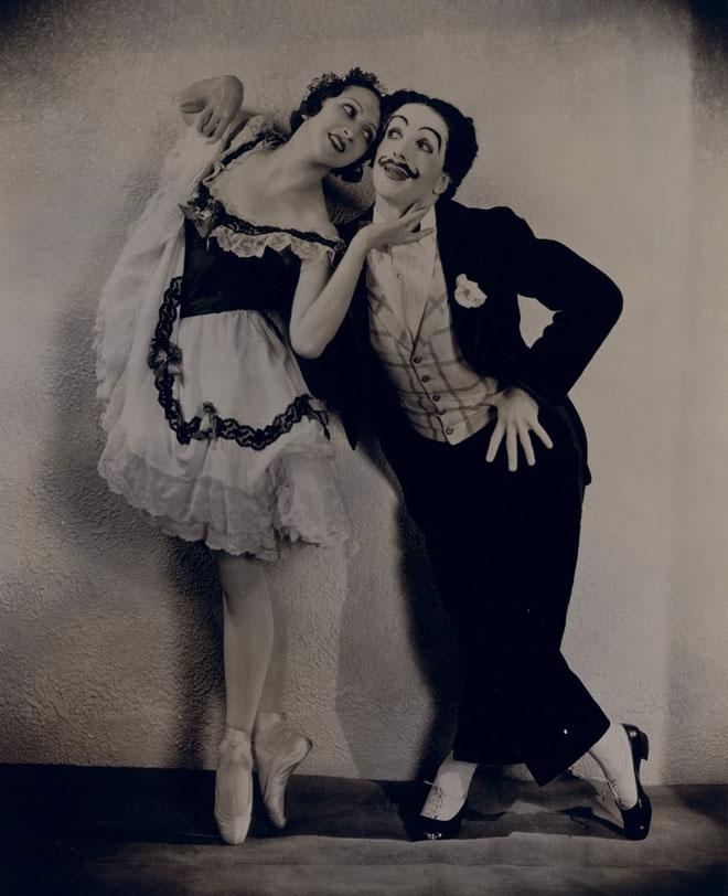 La Boutique fantasque, Alexandra Danilova et Léonide Massine en danseurs de cancan (photographie de Maurice Seymour) © Gallica-BnF