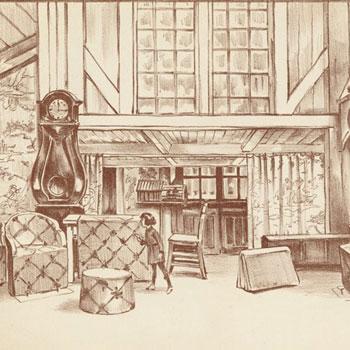"""L'Enfant et les sortilèges, 1er tableau (estampe) © Gallica-BnF"""" alt=""""L'Enfant et les sortilèges, 1er tableau (estampe) © Gallica-BnF"""