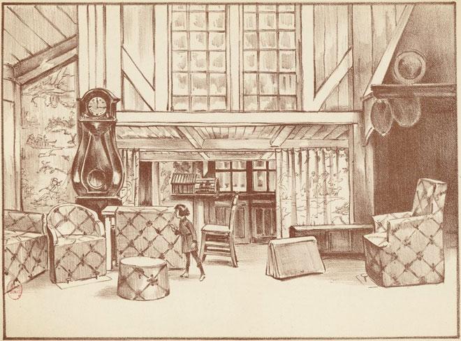 L'Enfant et les sortilèges, 1er tableau (estampe) © Gallica-BnF