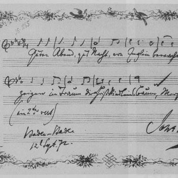 Cinq Lieder op. 49 de Johannes Brahms |