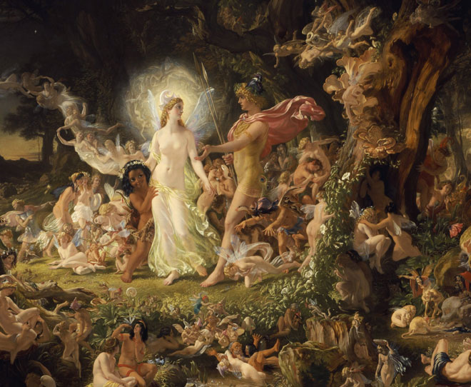 La Querelle d'Obéron et Titania (détail), par Joseph Noel Paton, 1849 © Scottish National Gallery