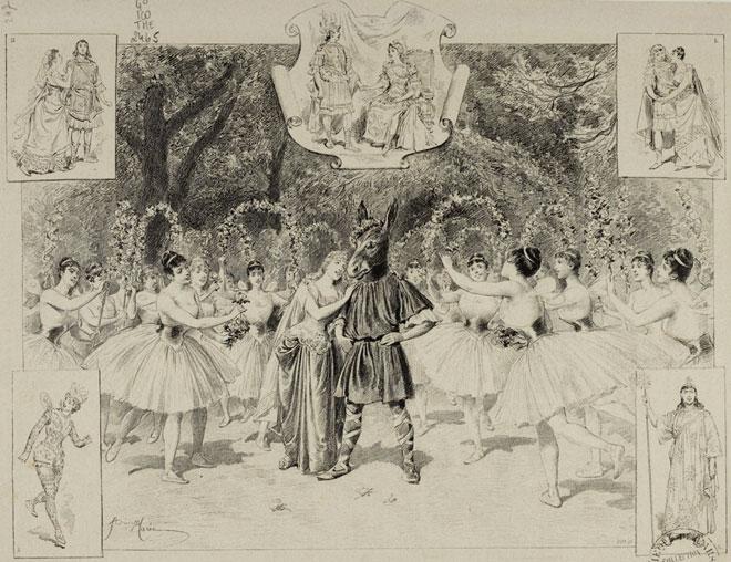 Le Songe d'une nuit d'été, illustration pour la pièce de William Shakespeare © Gallica-BnF