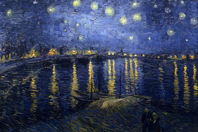 Nuit étoilée sur le Rhône, par Van Gogh © Musée d'Orsay, Paris