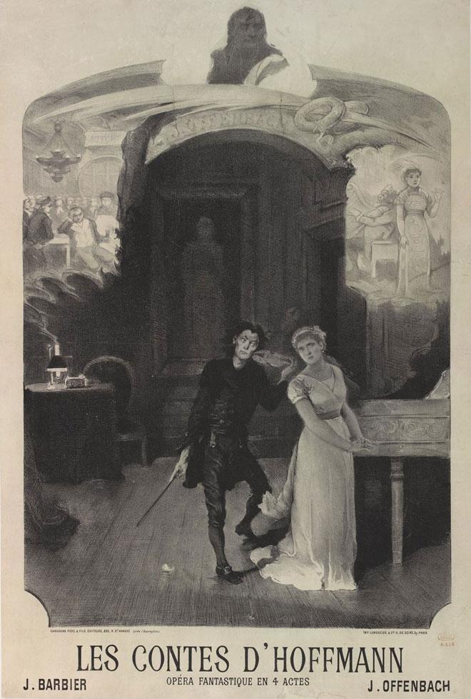 Les Contes d'Hoffmann de Offenbach (affiche) © Gallica - BnF