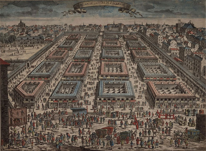 Plan de la Foire Saint-Germain © Gallica - BnF
