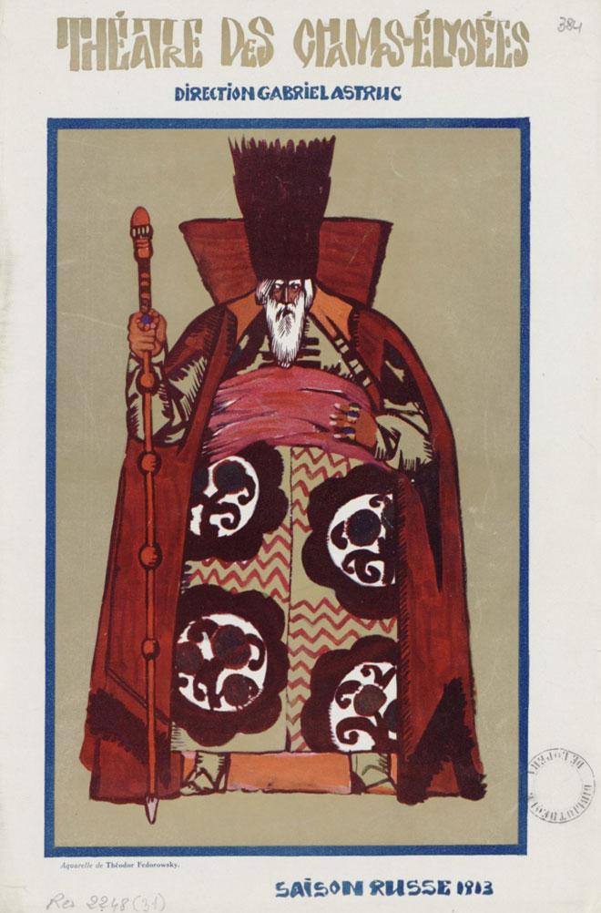 Programme du théâtre des Champs-Élysées du 15 mai 1913 © Gallica-BnF