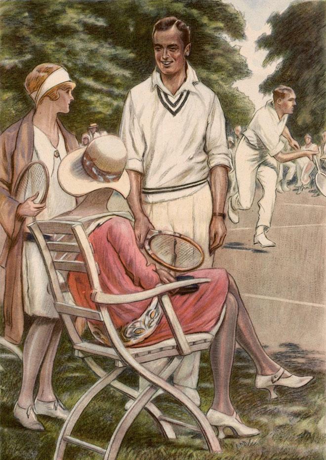 Tennis, par Ottilie Wedenmeyer © Universitätsbibliothek Heidelberg