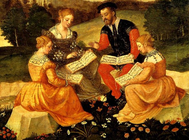 Concert vocal, école italienne, XVIe siècle © Bourges, Musée des arts décoratifs, hôtel Lallemant