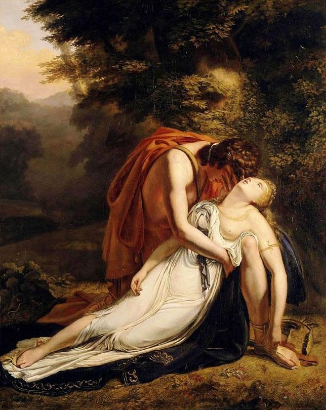Orphée pleurant la mort d'Eurydice, par Ary Scheffer, 1814 © Musée des beaux-arts de Blois