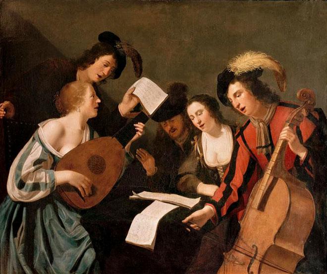 Réunion musicale, par Lumen Portengen, 1643 © Musée de Tessé, Le Mans
