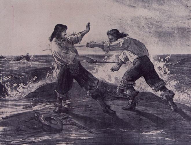 Le Vicomte de Bragelonne de Alexandre Dumas, estampe pour le roman feuilleton © Gallica-BnF
