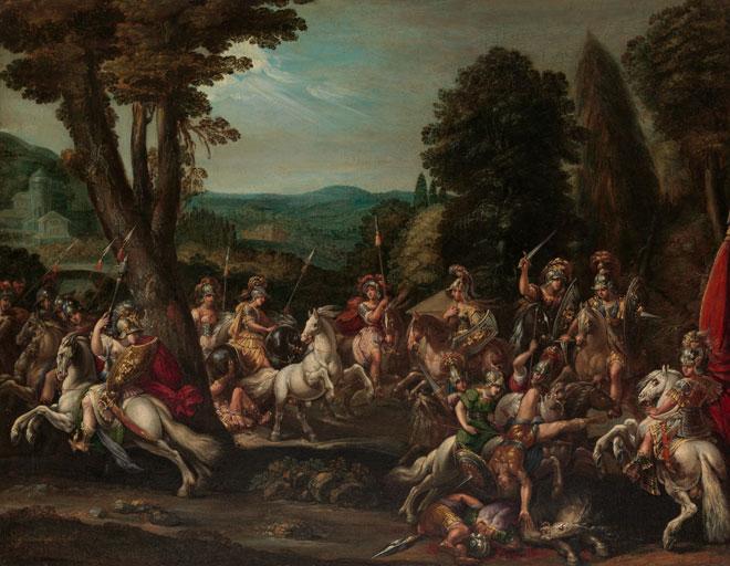 Le Triomphe des Amazones, par Claude Déruet, vers 1620 © Metropolitan Museum