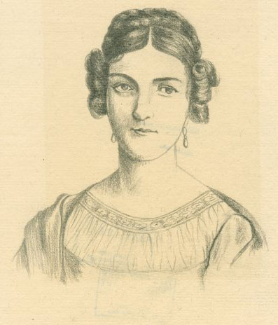 Portrait d'Amalie Sebald, d'après le dessin de Kolb © NY Public Library, digital collections