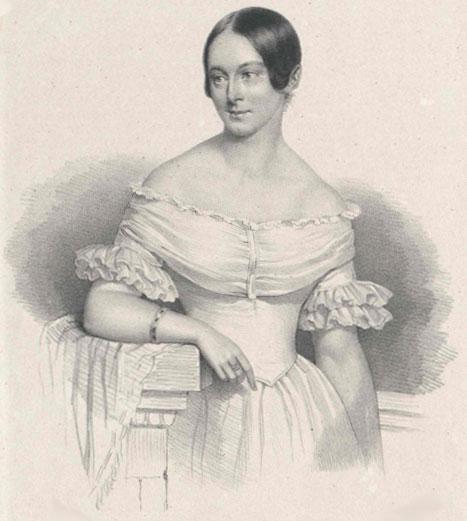 Portrait de Caroline Unger © Österreichische Nationalbibliothek