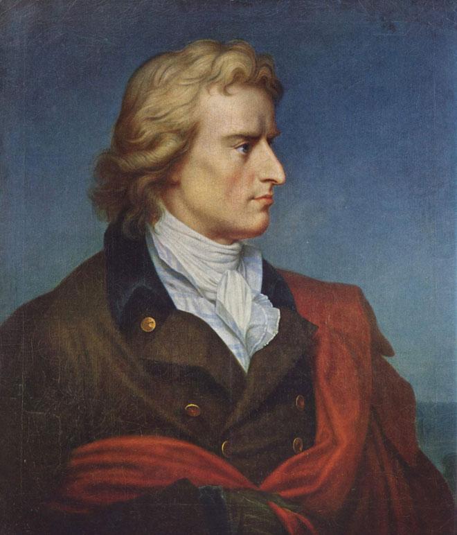 Portrait de Friedrich Schiller, par Gerhard von Kügelgen, 1808-1809 © Maison de Goethe, Francfort