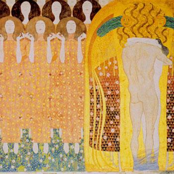L'Hymne à la joie, détail de la Frise Beethoven par Gustav Klimt, 1902 © Palais de la Sécession, Vienne