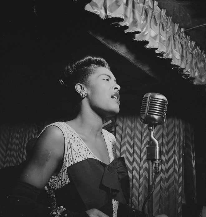 Portrait de Billie Holiday, Downbeat, février 1947 © William Gottlieb (photo) - Library of Congress