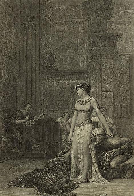 Cléopâtre et César, d'après Jean-Léon Gérôme © NY Public Library, digital collections
