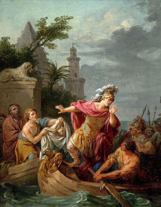 Regret de César sur la mort de Pompée, par Louis Jean François Lagrenée, vers 1767 © Château royal de Varsovie
