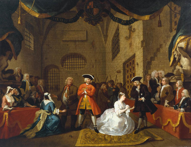 The Begga'rs Opera de John Gay, par William Hogarth, vers 1728 © National Gallery of British Art, London