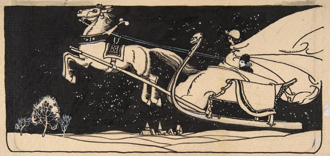 La Reine des neiges, illustration de Franz Wacik pour le conte d'Andersen © Metropolitan Museum