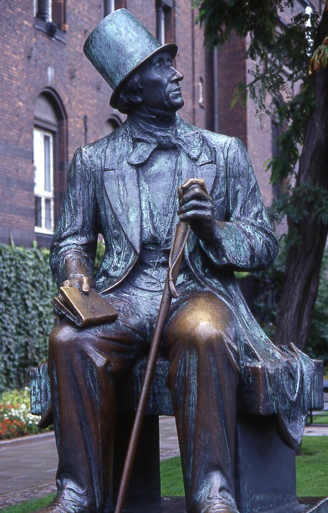 Monument dédié à Hans Christian Andersen, à Copenhague © SLUB - Deutsche Fotothek