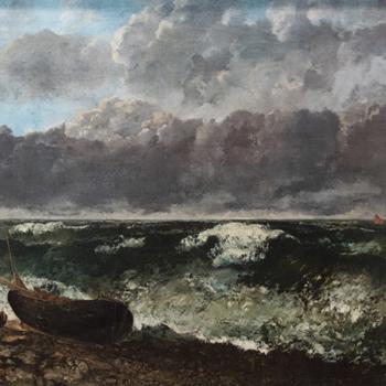 La Mer orageuse de Gustave Courbet, 1870, Musée d'Orsay