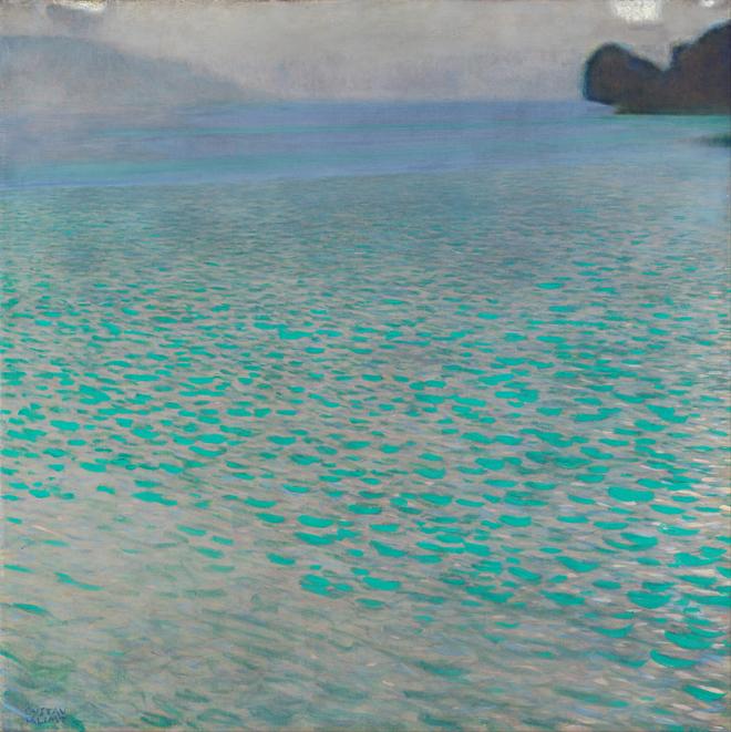 [13] <cite>Attersee</cite> de Gustav Klimt, 1900, Musée Leopold (Vienne)