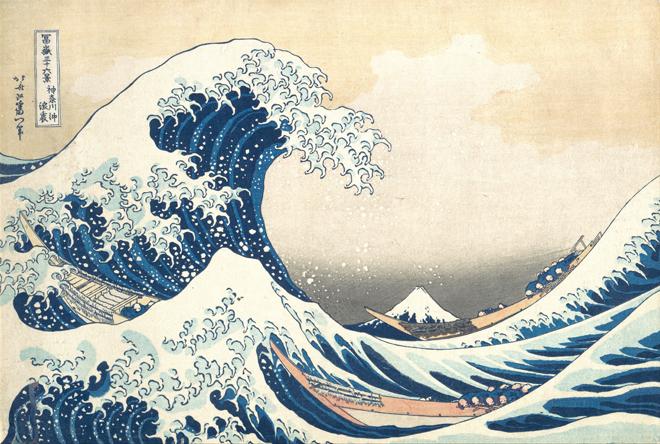 La Grande Vague de Kanagawa, de Hokusai, vers 1830 © Metropolitan Museum