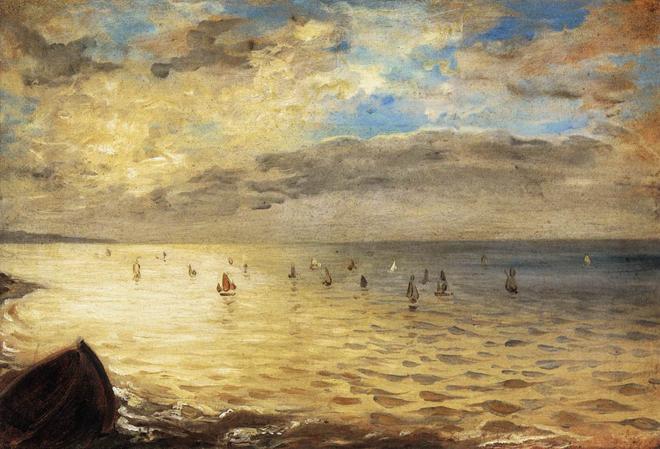[2] <cite>La Mer à Dieppe</cite> d'Eugène Delacroix, 1852, Musée du Louvre